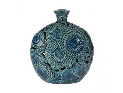 Modrá váza HARIET 30 cm