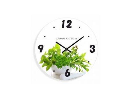 Nástěnné hodiny A&T Aromatyczne zioła 30 cm