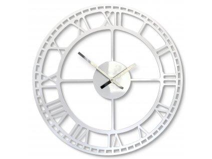 Nástěnné hodiny vintage retro bílé