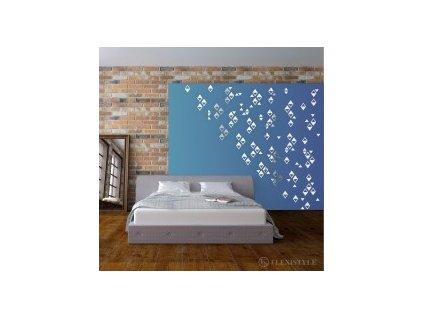 Samolepící dekorace zrcadlová  SHINY RAIN