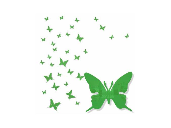 Dekorace na zeď motýlek zelený