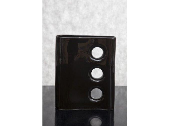 Keramická váza IVO černá 30cm