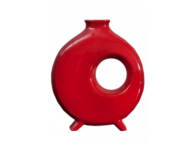 Keramická váza TANGO 16 Červená 45 cm