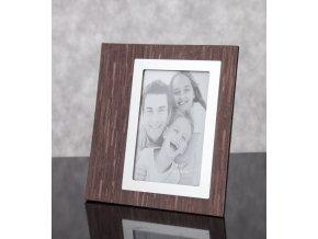 Fotorámeček ALAN 3/4 Hnědý - foto 10x15 cm