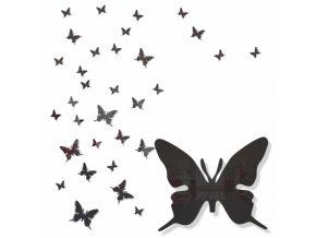 Nástěnná dekorace motýlek černý
