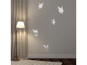 Set luxusní zrcadlové dekorace motýlů
