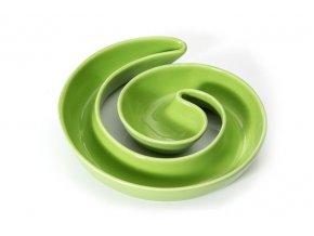 Dekorativní miska LAOS spirála zelená