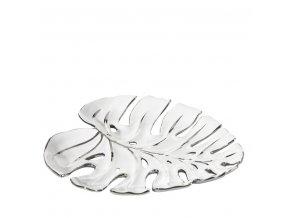 Keramická mísa OLIVIA bílo/stříbrná 01- 29x28x3cm