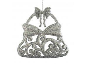 Vánoční ozdoba kabelka Stříbrná