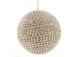 Vánoční ozdoba SILVER 8 cm zlatá