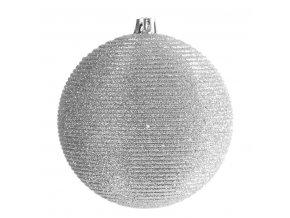 Vánoční ozdoba LINA stříbrná 10cm