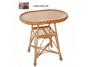 Proutěný stolek OVÁL