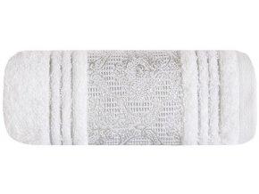 Osuška CAIRO 70x140 Bílá stříbrná výšivka