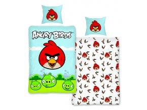 Jerry Fabrics Povlečení bavlna Angry birds a prak 140x200, 70x90
