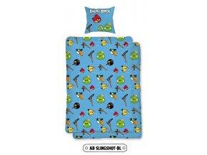 Jerry Fabrics Povlečení bavlna Angry birds Slingshot BL 140x200, 70x90