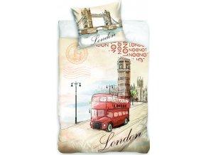 Jerry Fabrics Povlečení fototisk London bus 140x200, 70x90