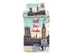 Jerry Fabrics Povlečení fototisk London 140x200, 70x90