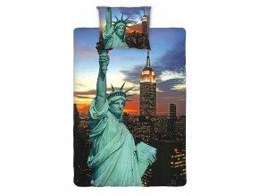 Jerry Fabrics Povlečení fototisk New York night 140x200, 70x90