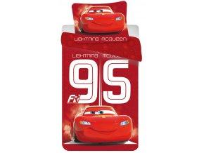 Jerry Fabrics Povlečení Cars 95 red  140x200, 70x90