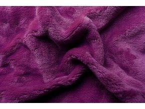 Svitap Prostěradlo mikroflanel fialová tmavá 90x200 cm