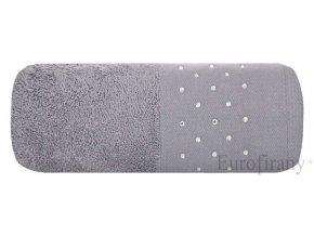 Luxusní osuška se třpytivými kamínky 70x140cm Šedá