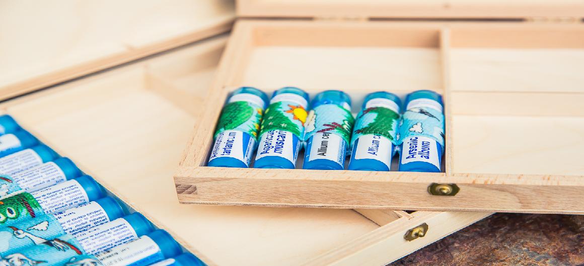 Dřevěné lékárničky na homeopatika
