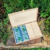 Dřevěná  homeopatická lékárnička