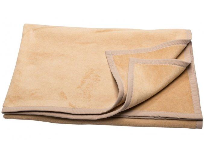 Bavlněná deka CAPRI v barvě velbloudí srsti