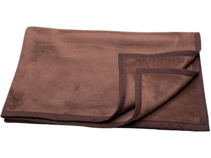 Bavlněná deka CAPRI hnědá