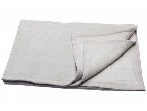 Bavlněná deka CAPRI světlé šedá