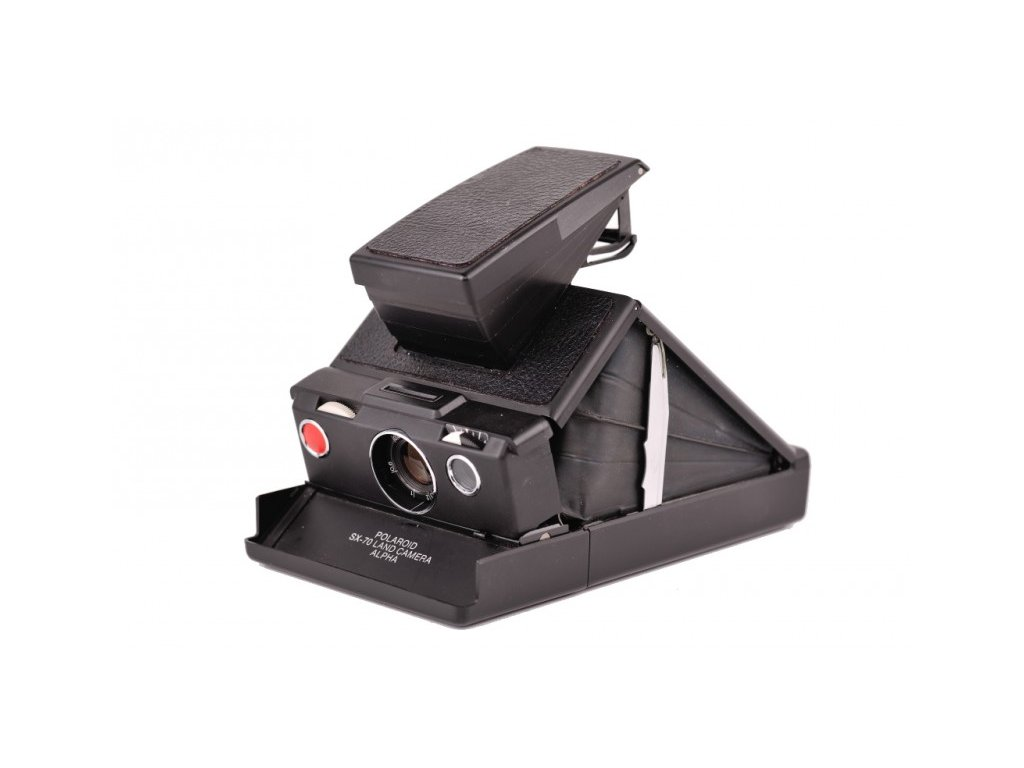 Polaroid SX-70 Land Camera Alpha (Black Leather)