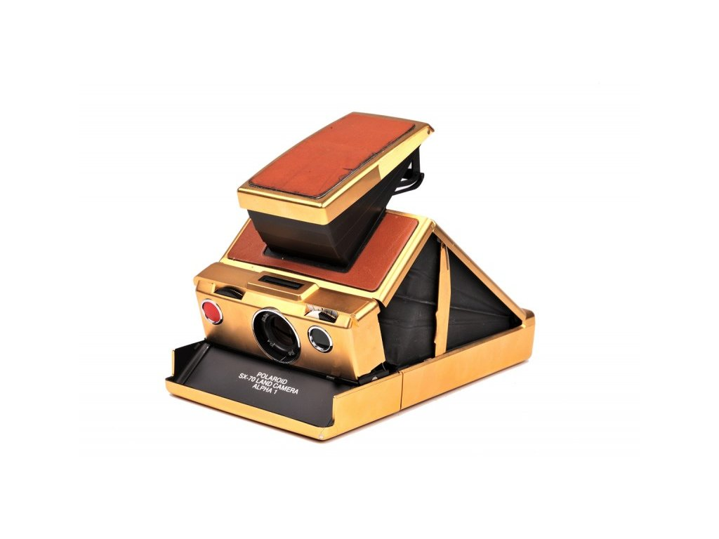 "Polaroid SX-70 Alpha 1 ""Mildred Scheel"" Land Camera Limited Edition 24k Gold (stav B)"
