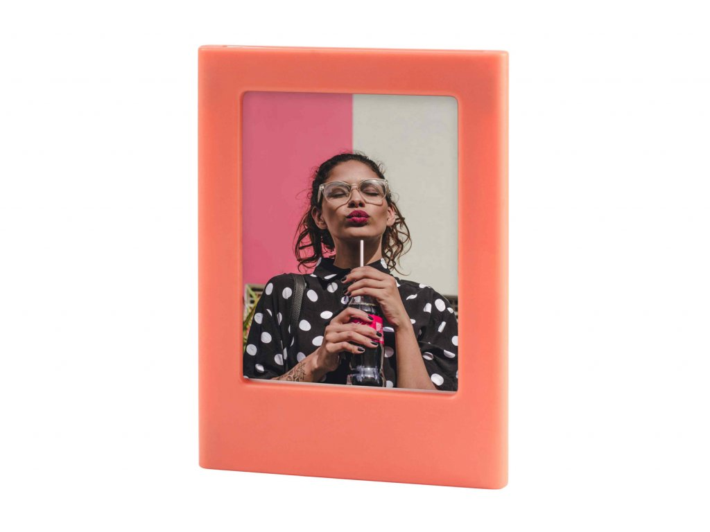 Instax Mini Magnet Photo Frame Coral Orange