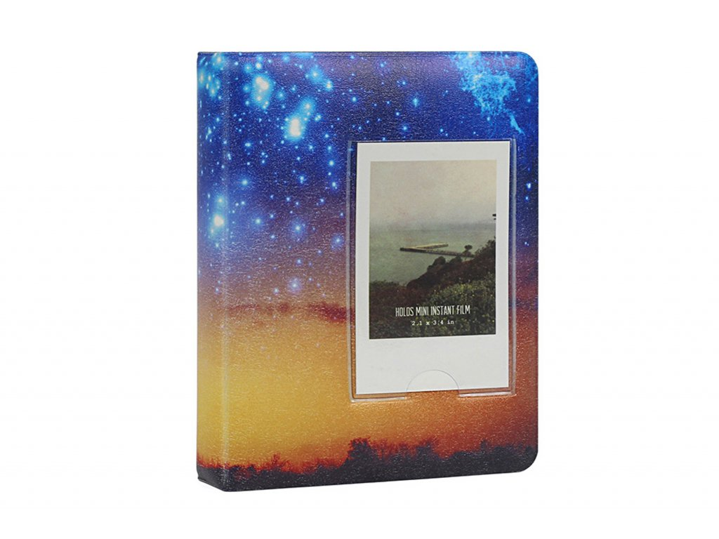 2061 7 instax mini pocket album starry sky yellow