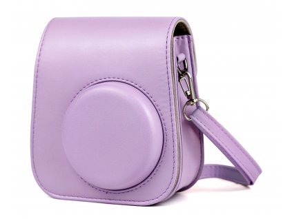2618 fujifilm instax mini 11 case leather lilac purple