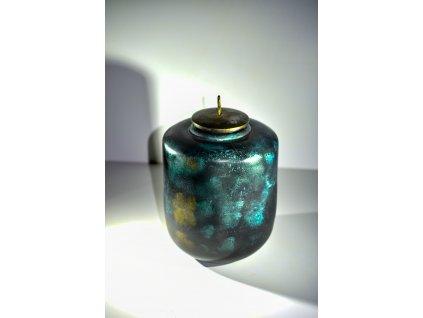Váza s víčkem 28x18 cm