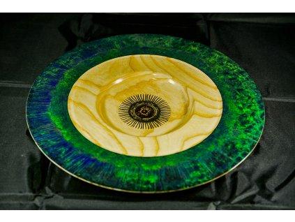 Talíř kolorovaný-zelený ø 33 cm