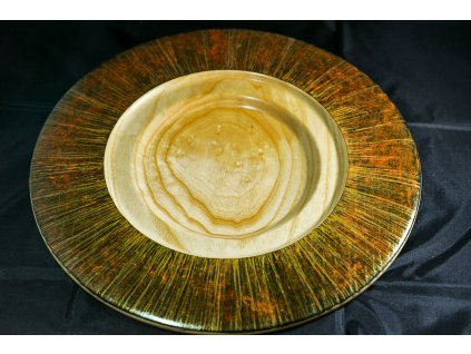 Talíř kolorovaný-zlatohnědý ø 33 cm