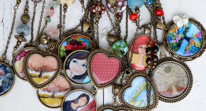 Mé obrázkové náhrdelníky