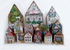 Malované domečky
