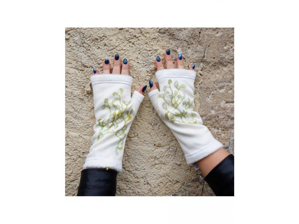 Teplé rukavice - návleky  - Jmelí