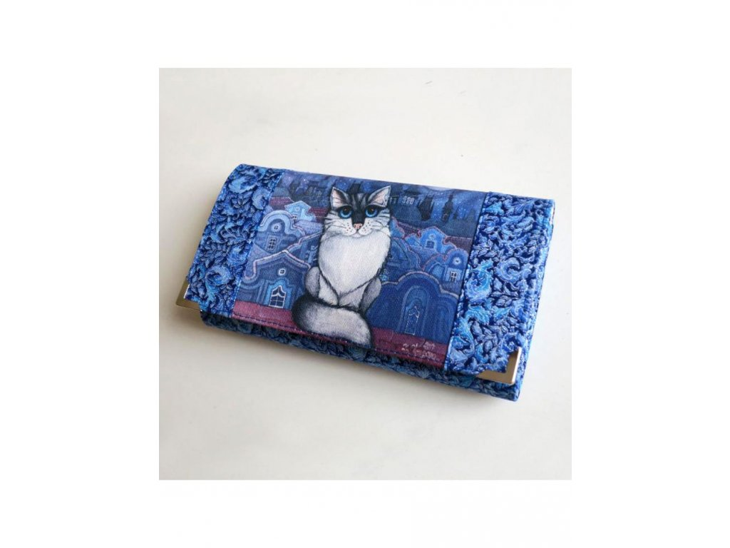 Modrý kocour - peněženka 17 cm i na karty
