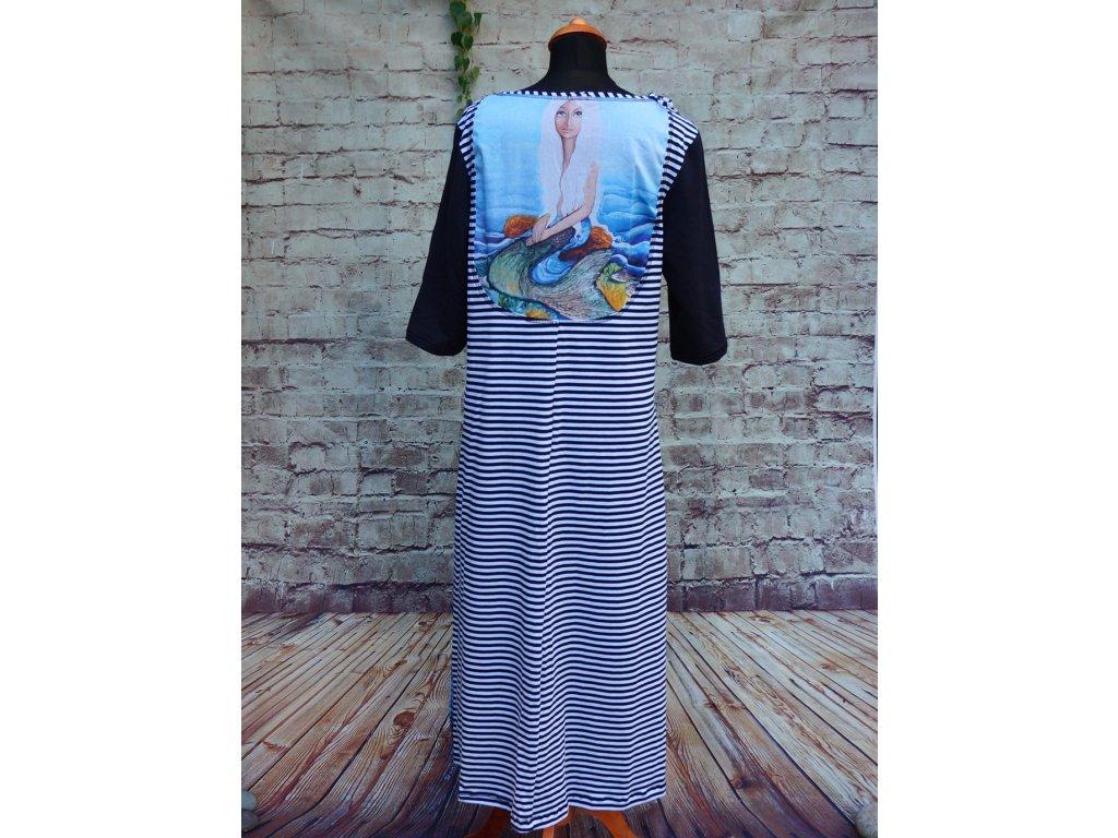 Dlouhé šaty s obrázkem na zádech - Vzpomínka na léto 44
