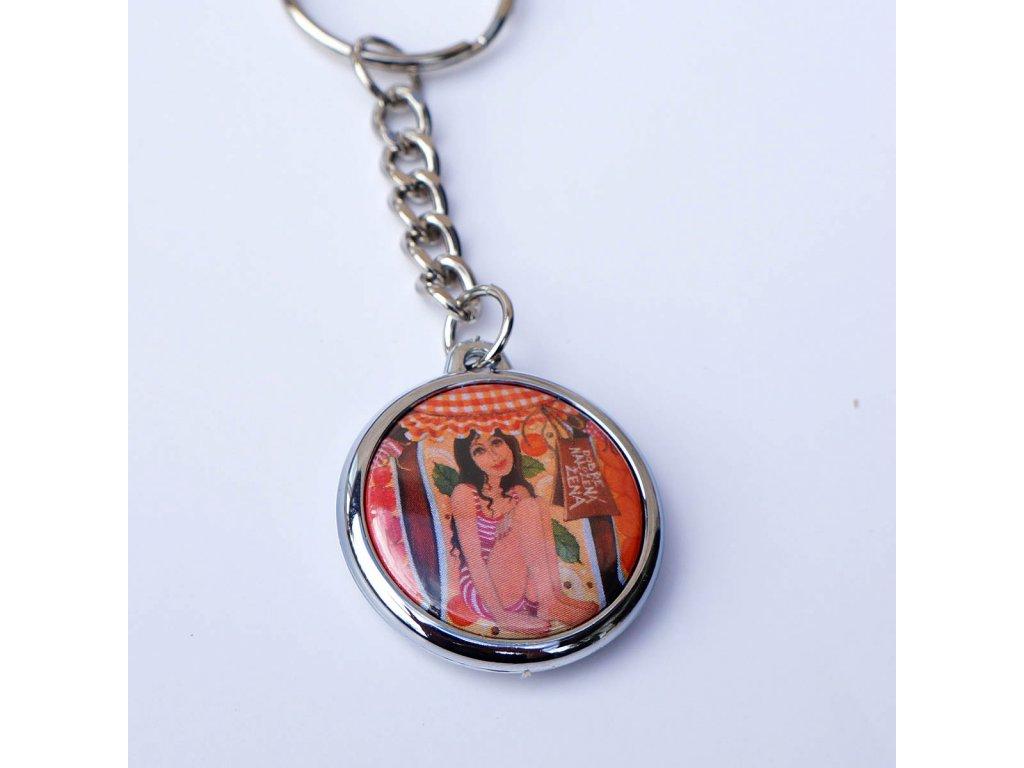 Přívěsek na klíče- Dobře naložená žena