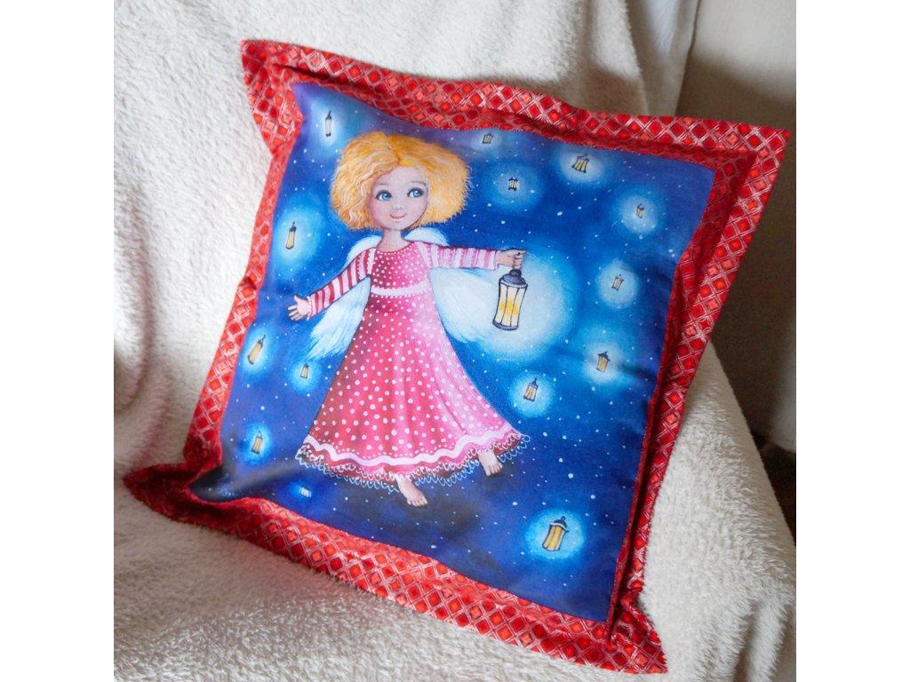 Světluška - polštář 50 x 50 cm bavlna