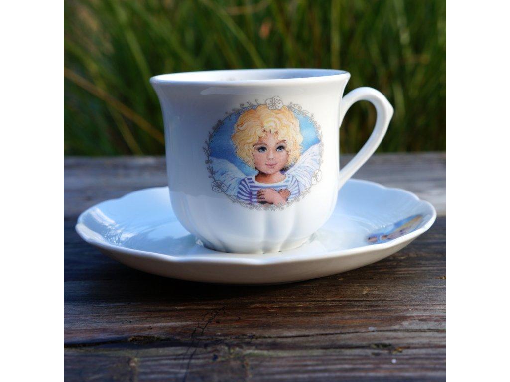 """Na kávu """"rosa""""- Andělíček"""