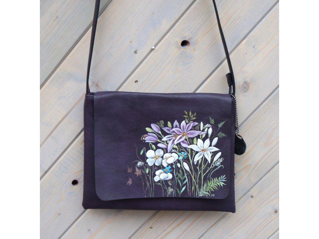 Kabelka -Kvetoucí - originál malovaná