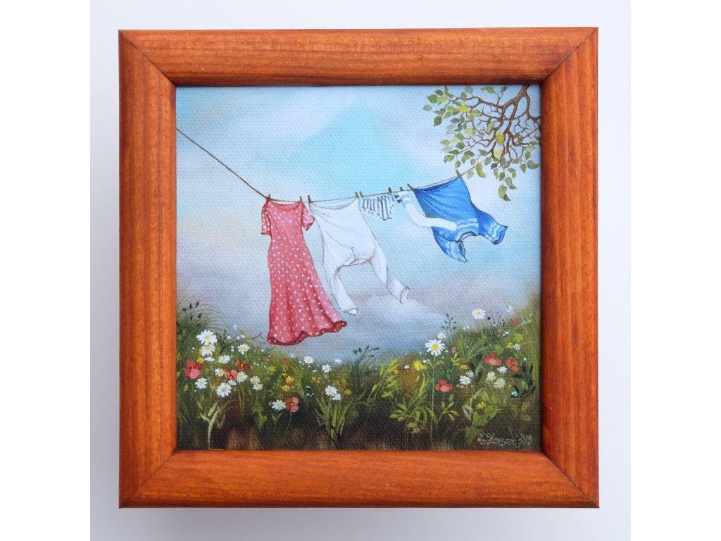 Léto a prádlo ve větru