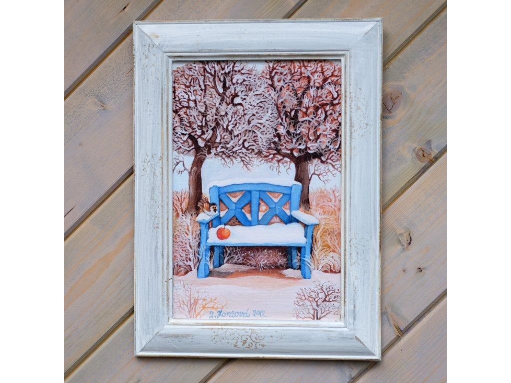 Zimní lavička