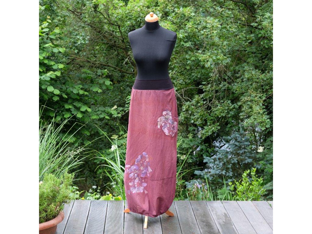 Sukně barvená a malovaná, dlouhá 36-38
